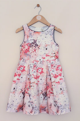 Next prom style lined floral dress (age 4)