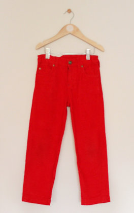 Joules red cord trousers (age 6)