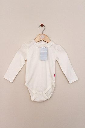 Jojo Maman Bebe cream long sleeve bodysuit (age 6-12 months)