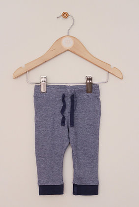 F&F blue fine stripe leggings (age 3 -6 months)