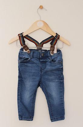 Next jeans with detachable rainbow braces (age 3-6 months)