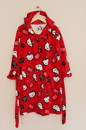 M&S red fleece Hello Kitty dressing gown (age 6-7)