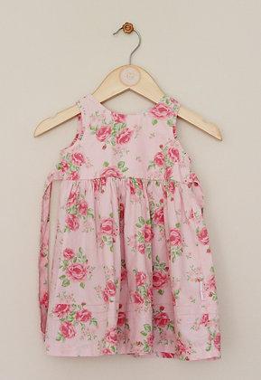 Babykids rose patterned prom dress (age 3-6 months)