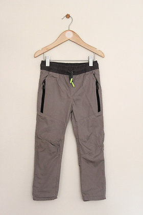F&F beige jersey lined utility style trousers (age 3-4)