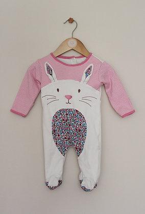 Jojo Maman Bebe bunny rabbit sleepsuit (age 3-6 months)