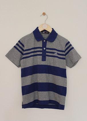 Crocodile blue and grey striped jersey polo (age 8)