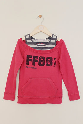 Fatface 'Life is out there' double layer sweatshirt (age 4-5)