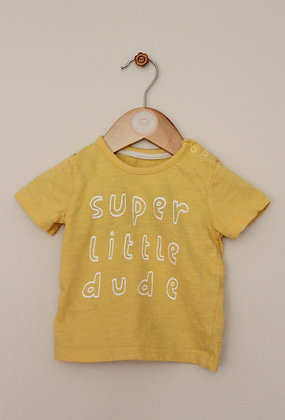 George yellow 'super little dude' t-shirt (age 3-6 months)