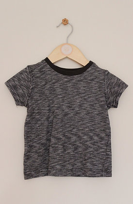 Nutmeg marl black and grey t-shirt (age 12-18 months)