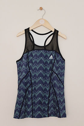 Adidas blue and green training top (age 10-12 / Med)
