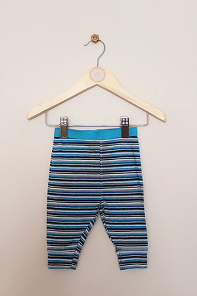 Next blue and grey striped leggings (age 0-3 months)