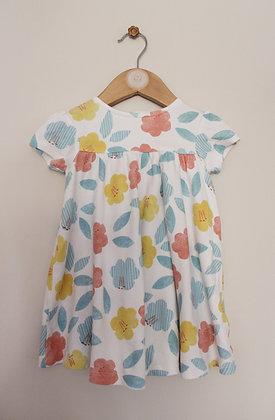 M&S pastel big flower print dress (age 9-12 months)