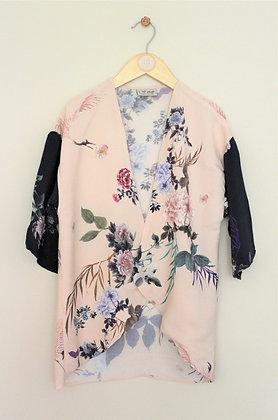 Next pale pink floral print kimono style cardigan (age 6)