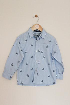 Rebel by Primark blue sailboat shirt (age 4-5)