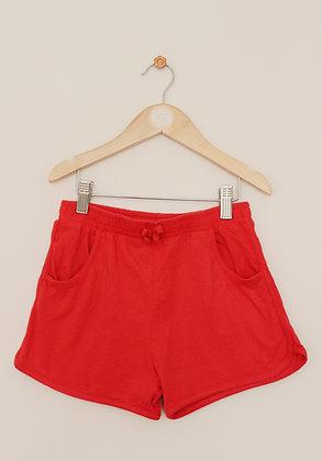 Tu lightweight jersey red shorts (age 10)