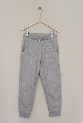 M&S grey marl fleece lined joggers (age 6-7)