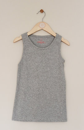 Next grey ribbed vest (age 8)