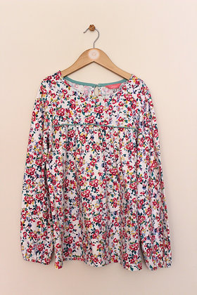 Joules long sleeved floral loose fit top (age 11-12)