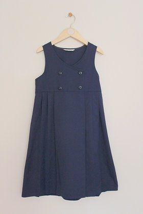 M&S navy school pinafore with pleated skirt (age 9)