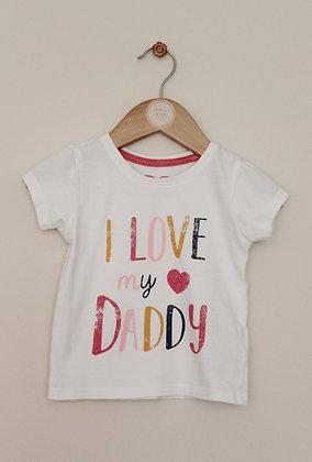 Primark 'I love my daddy' t-shirt (age 9-12 months)