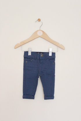 Denim Co blue twill trousers (age 0-3 months)