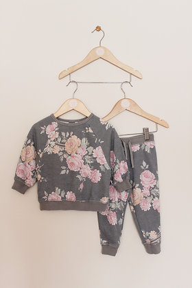 Next floral sweatshirt and joggers set (age 12-18 months)
