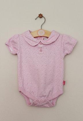 Jojo Maman Bebe pink berry design Peter Pan collar bodysuit (age 3-6 months)
