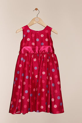 George pink spotty occasion dress (age 4-5)