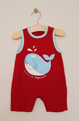 George jersey 'Little Squirt' dungarees (Newborn)
