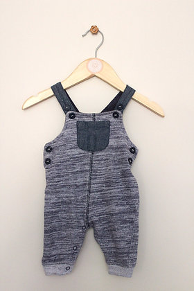 TU jersey blue grey dungarees (age 0-3 months)