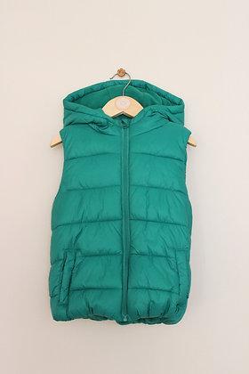 F&F hooded green padded bodywarmer (age 6-7)