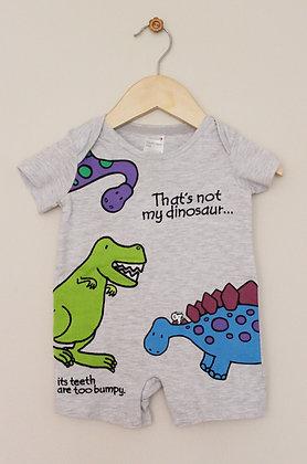 Tesco Usbourne 'That's not my dinosaur' romper  (age 0-3 months)