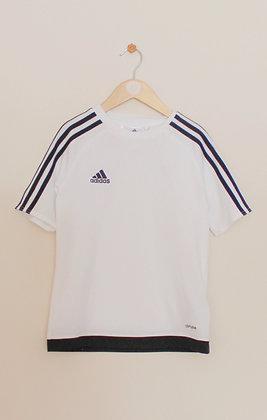 Adidas Climalite white training top with black trim (age 9-10)