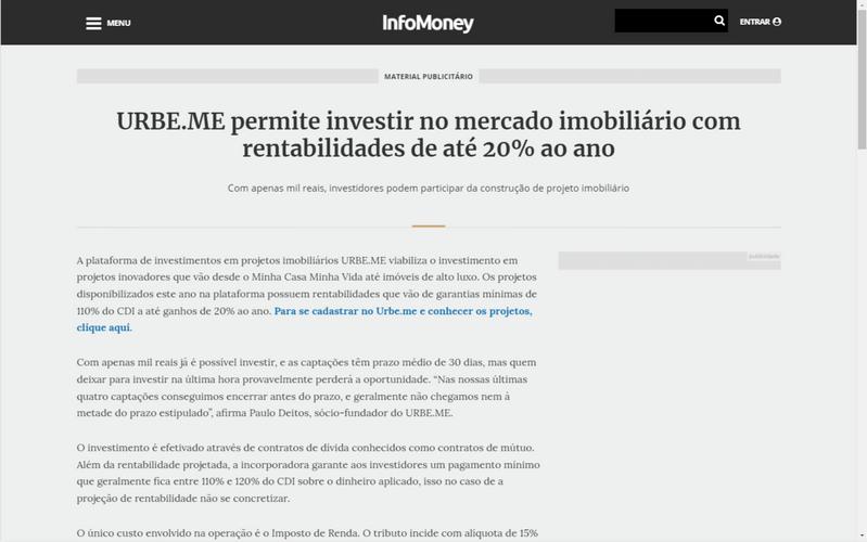 URBE.ME | Infomoney
