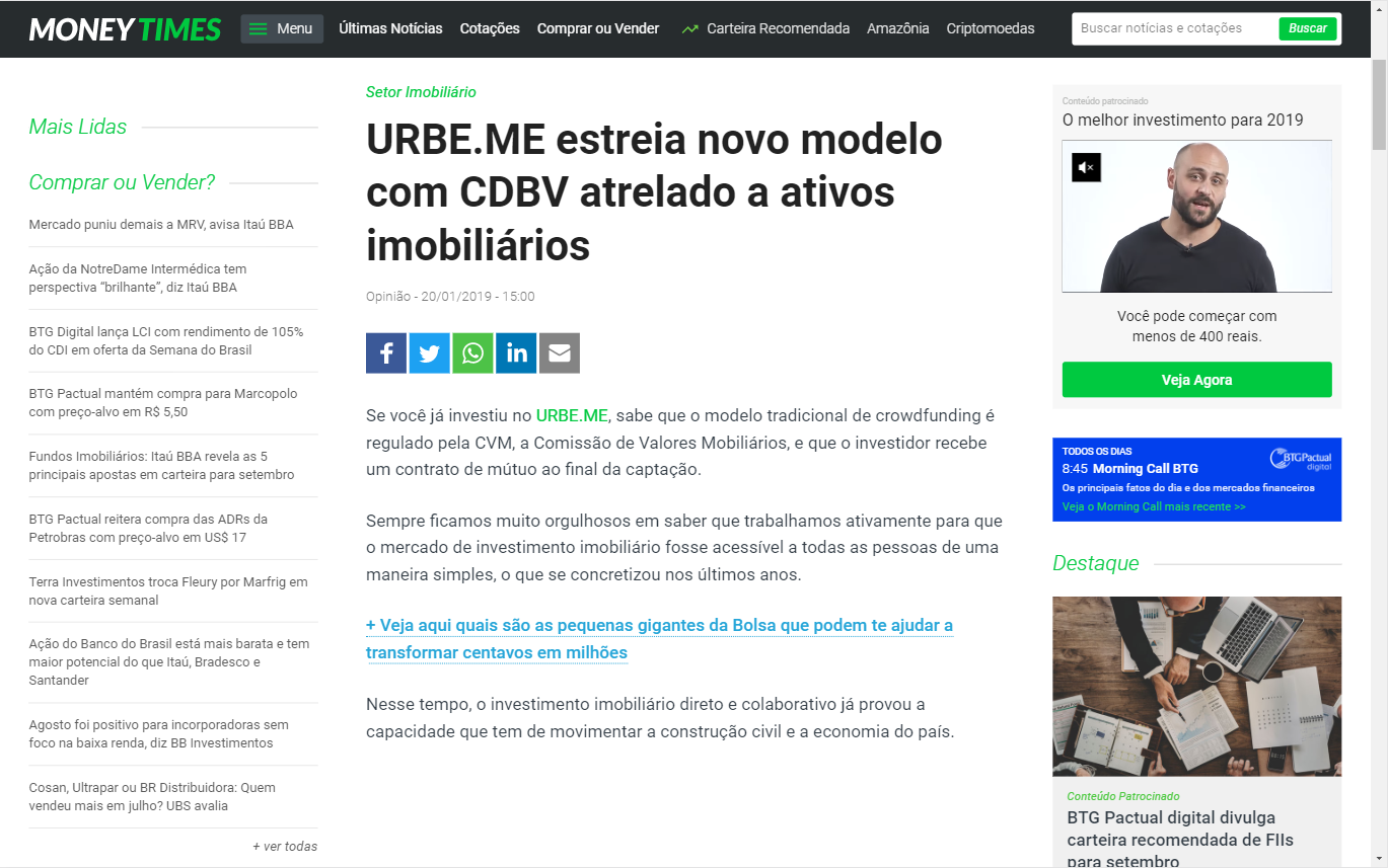URBE.ME | Money Times