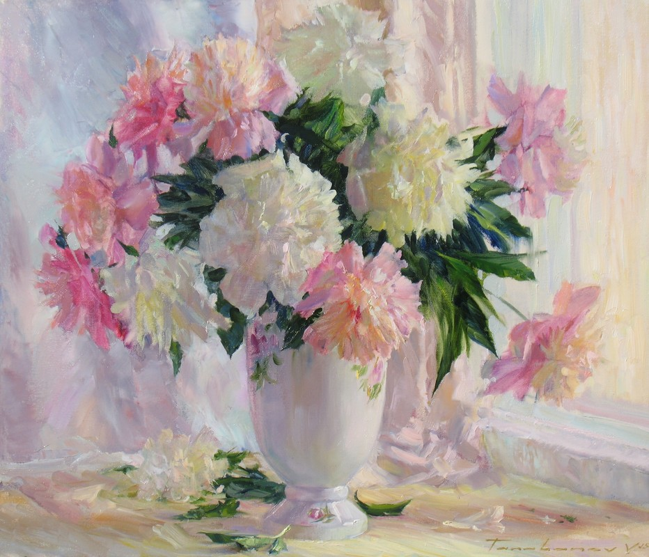 Peonies Near The Window