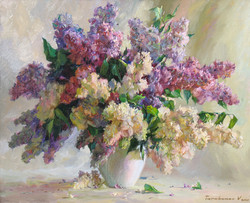Lilacs Near The Window