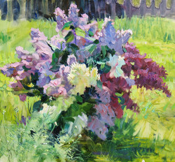 A Lilac Bouquet in the Open Air