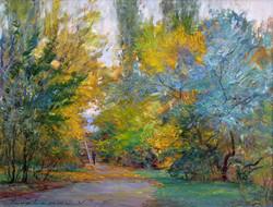 Autumn in the Pobedy Park