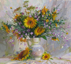 Wild Flowers and Sunflowers