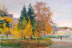 Autumn. A View of the Tchkalov Theat
