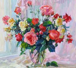 Roses Against the Pink