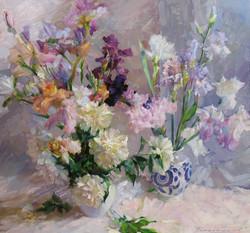 Irises and Peonies