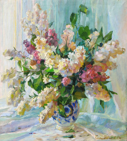 Lilacs. Light From the Windows