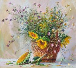 Wild Flowers in a Basket