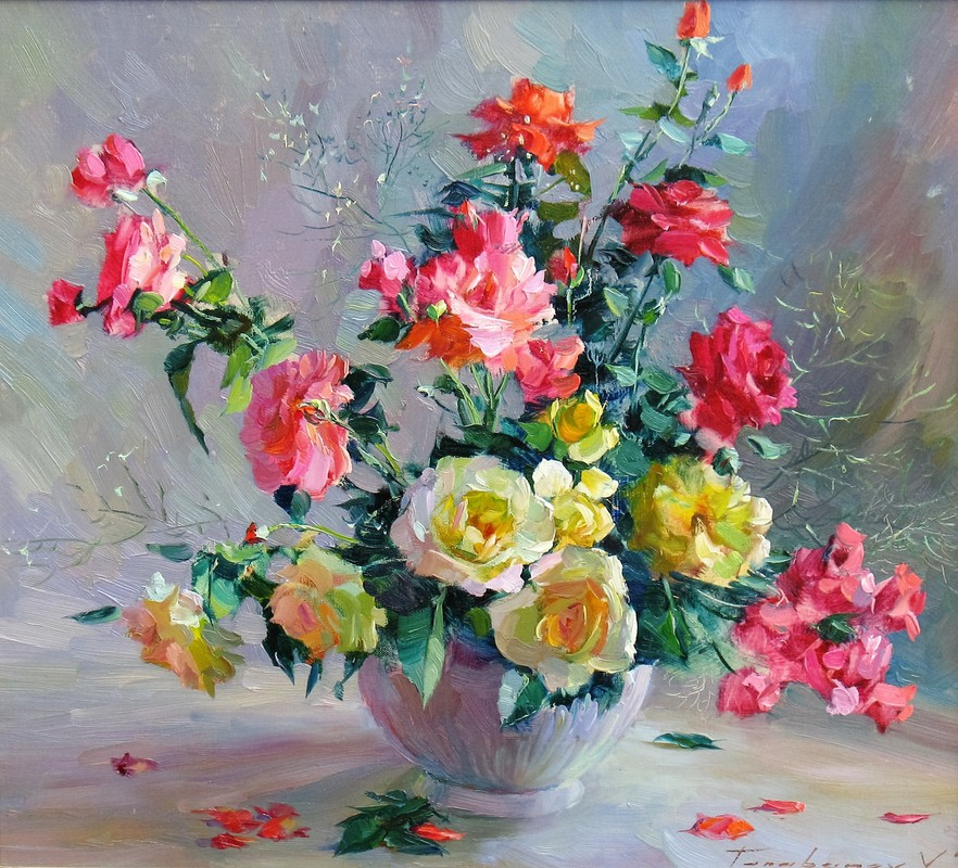 Still-lifes with Roses
