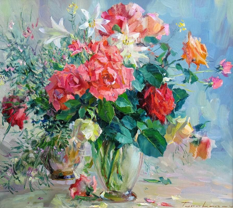Троянди та лілії