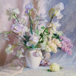 Lilacs and Irises.