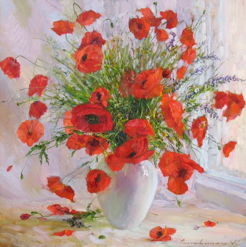 Still-lifes with Poppies