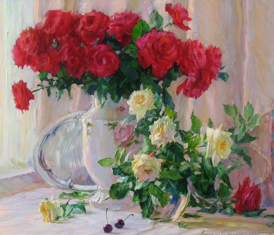 Натюрморт з трояндами